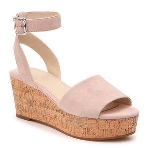 Marc Fisher Rillia Wedge Cork Platform Sandal 7.5